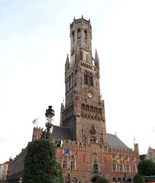 Free The Belfry , Bell Tower In Bruges Belgium Stock Photo - 18389650