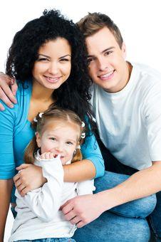 Free Happy Family Royalty Free Stock Photo - 18389775