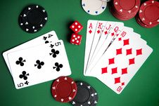 Free Playing Cards And Chips Stock Image - 18389961