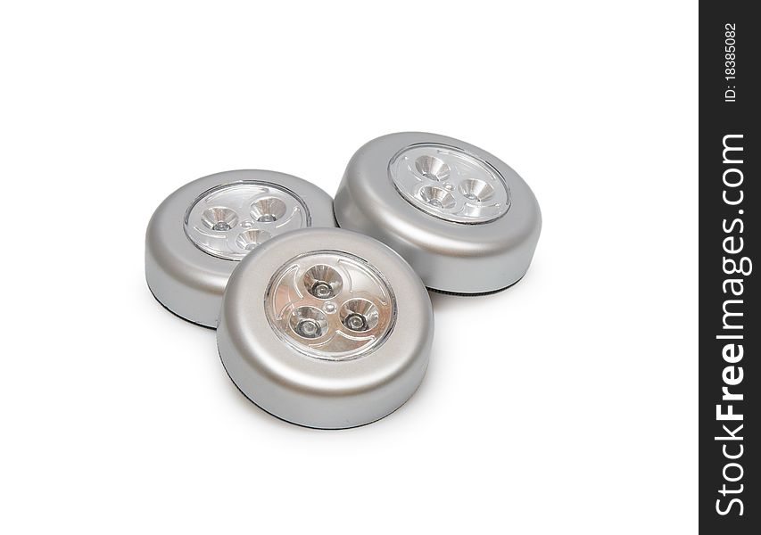 Three round lantern flashlights