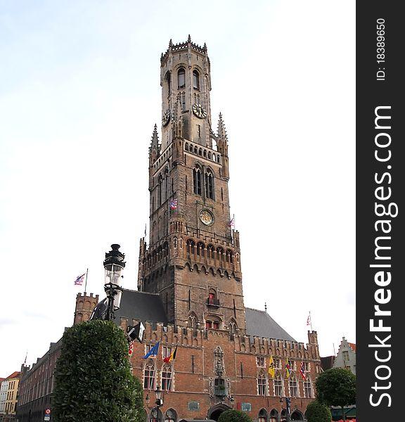 The Belfry , Bell Tower in Bruges Belgium