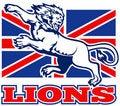 Free Lion Great Britain Union Jack Flag Stock Photo - 18391870