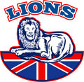 Free Lion Great Britain Union Jack Flag Royalty Free Stock Images - 18391879