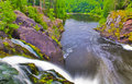 Free Forest Lake And Small Waterfall Stock Image - 18393591