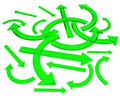 Free Bright Green Arrows Royalty Free Stock Image - 18395266