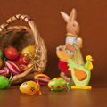 Free Easter Basket, Eggs, Bunny And Chicken Royalty Free Stock Images - 18398309