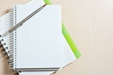 Note Pad And Pen Royalty Free Stock Photo