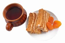 Free Sweet Honey-cake With Dried Apricots Royalty Free Stock Photo - 18390595