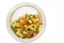 Free Colorful Raw Fusilli In A Jar Royalty Free Stock Photos - 18390858