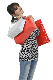 Free Shopaholic Woman Stock Photos - 18390973