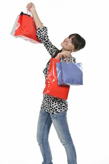 Free Shopping Girl Stock Images - 18390974