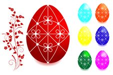 Free Set Of Easter Eggs. Royalty Free Stock Images - 18391089