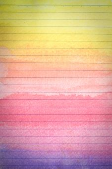 Free Line Paper With Colorful Watercolor Stock Photography - 18391392