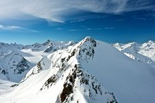 Alps In Soelden Stock Images