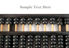 Free Old Wooden Abacus With Copy Space Royalty Free Stock Image - 18391416