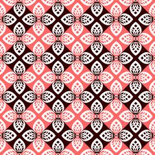 Free Seamless Floral Checked Pattern. Royalty Free Stock Photo - 18391545