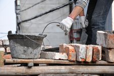 Free Bricklayer Royalty Free Stock Image - 18391656