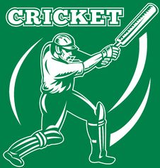 Free Cricket Sports Player Batsman Stock Photo - 18392990