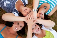 Free 4 Women Hands Stock Photography - 18393142