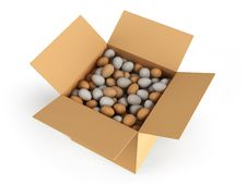 Free Box With Eggs Royalty Free Stock Images - 18393209