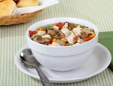 Free Chicken Vegetable Soup Royalty Free Stock Photo - 18393655