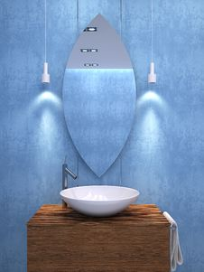 Free Modern Bathroom Interior. Royalty Free Stock Image - 18393716