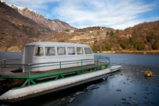 Free Boat In An Icy Lake Stock Images - 18393874