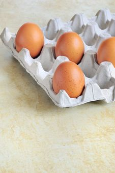 Free Eggs In Cardboard Stock Photo - 18393930