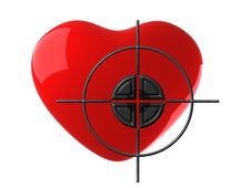 Free Red Heart And Target Royalty Free Stock Photos - 18394168