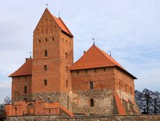 Free Medieval Castle Tower In Trakai, Lithuania Stock Photos - 18394223