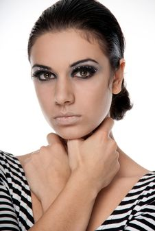 Free Young Woman With Bright Make-up Royalty Free Stock Image - 18394736