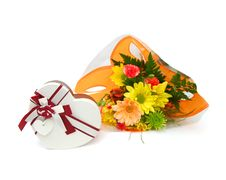 Free Gift Box Flower Stock Image - 18395521