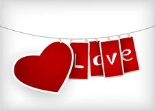 Free Valentine Hanging Labels. Royalty Free Stock Images - 18395919