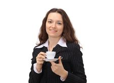 Business Woman With Coffee Royalty Free Stock Image