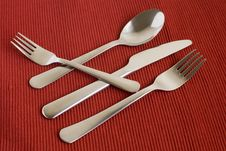 Set Of Flatware Stock Photo
