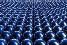 Free Abstract 3d Blue Spheres Stock Photography - 18396112