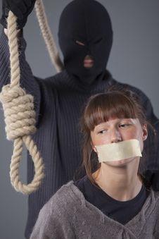 Hangman And Victim Royalty Free Stock Image