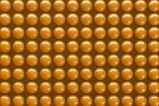 Free Abstract 3d Orange Spheres Stock Photo - 18396560