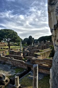 Free Ostia Antica Rome Ruins Royalty Free Stock Photography - 18396977
