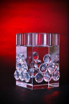 Crystal Luxury Decorative Cube Stock Photography
