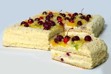 Free Piece Of Cherry Cake. Royalty Free Stock Photos - 18397888