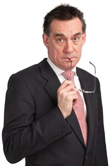 Surprised Shocked Businessman In Suit Royalty Free Stock Image