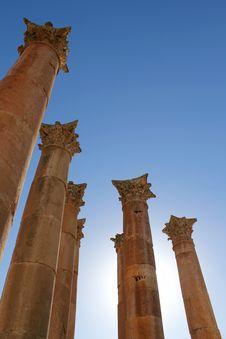 Free Ruins Of Greco-Roman City Gerasa. Royalty Free Stock Photography - 18398197