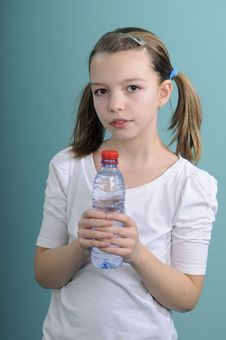 Free Girl Drinking Water Stock Image - 18398311
