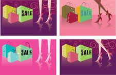Free Retail Shopping Card Backgrounds Stock Image - 18398371