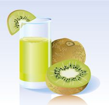 Fresh Kiwi Juice Royalty Free Stock Photography