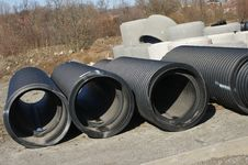 Big Black Tubes Stock Image
