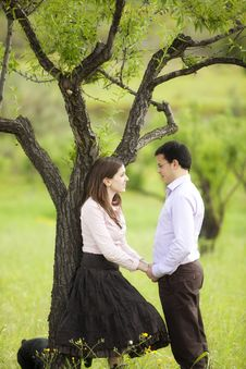 Free Young Couple On Nature Royalty Free Stock Image - 18399876