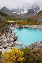 Free Turquoise Lake And Mountains. Royalty Free Stock Photography - 1846347