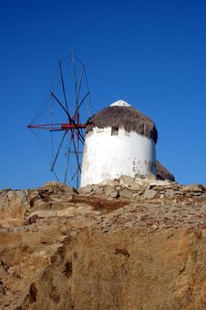 Free Windmill On Mykonos Stock Image - 1840011